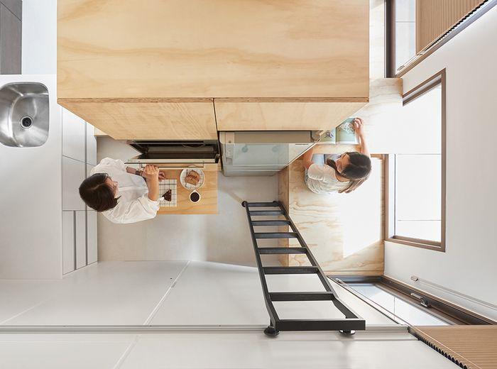 Widok z góry na kuchnię