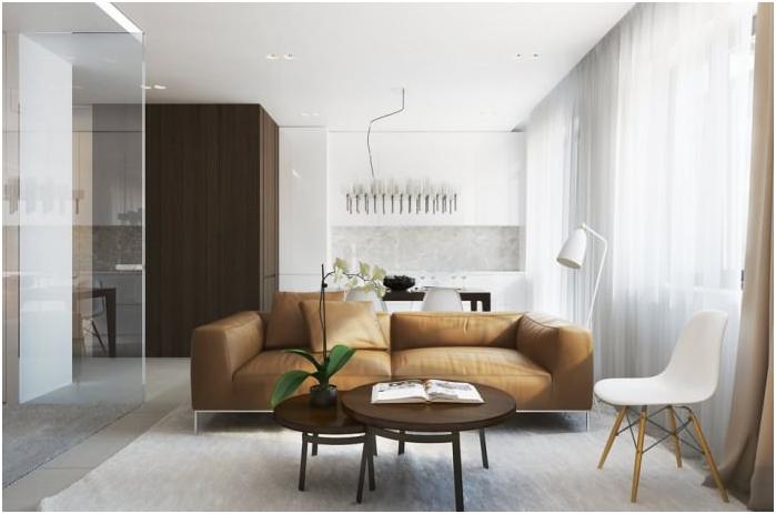 styl minimalizmu we wnętrzu kuchni-salonu