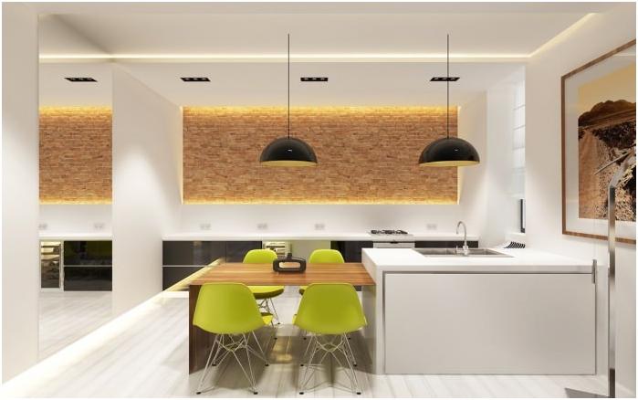минимализъм стил в интериора на кухнята