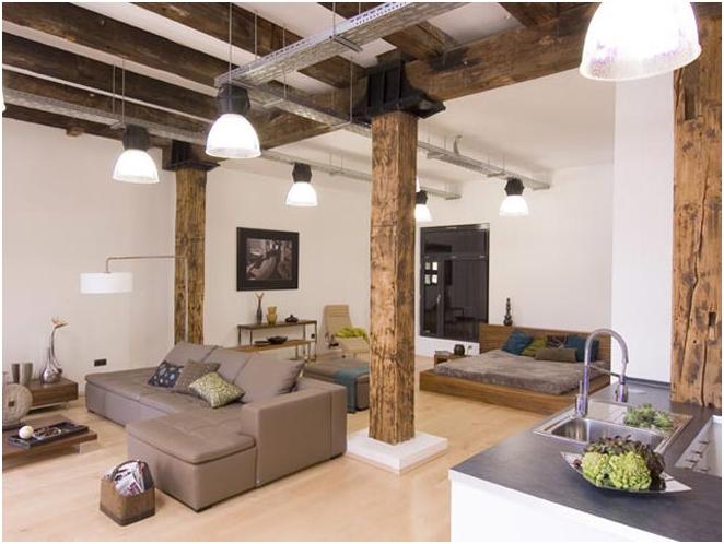 Таванско помещение в интериора на апартаментите