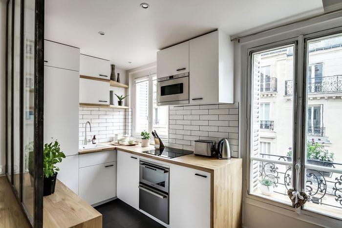 Małe wnętrze kuchni