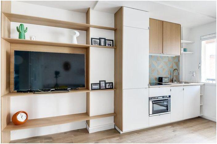 W mieszkaniu jest miejsce na duży telewizor