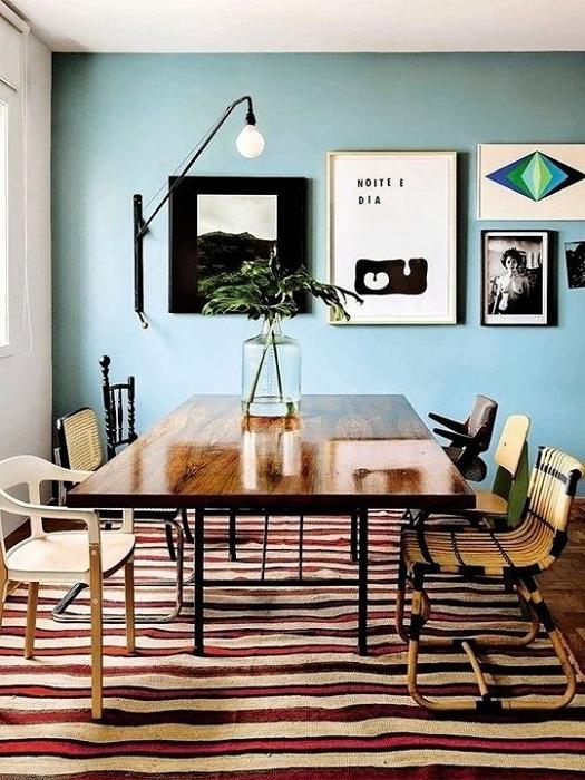 Стая с основен фон с ментов цвят е чудесно решение за всеки съвременен човек.