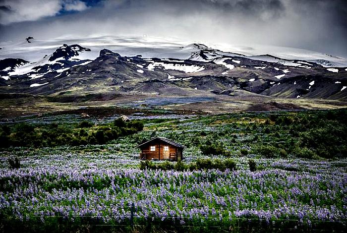 Dom mieszkalny na Islandii.