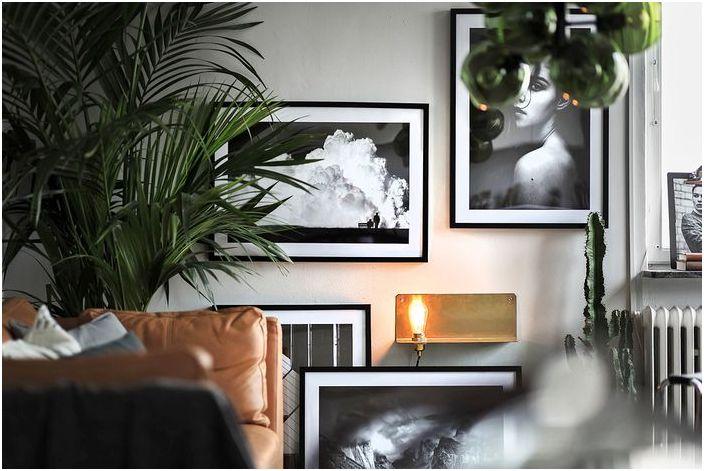 Черно-белите снимки допълват интериора