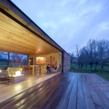 Liten moderne flatt takhus av ch + qs arquitectos-2