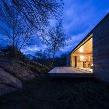 Lite moderne flatt takhus av ch + qs arquitectos-3