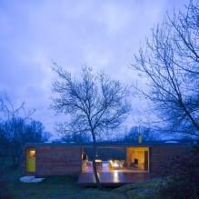 Lite moderne flatt takhus av ch + qs arquitectos-7