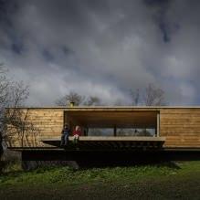 Liten moderne flat takhus av ch + qs arquitectos-13