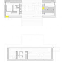 Liten moderne flatt takhus av ch + qs arquitectos-14