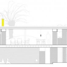 Lite moderne flatt takhus av ch + qs arquitectos-15