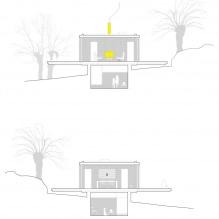 Liten moderne flatt takhus av ch + qs arquitectos-16