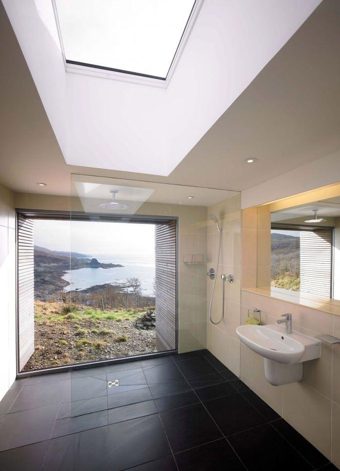 душ в интерьере одноэтажного загородного дома