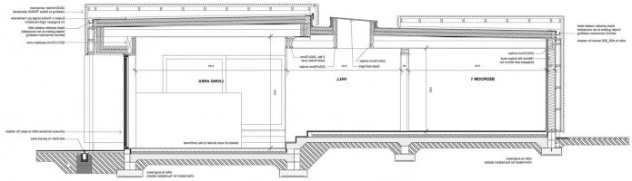оформление на едноетажна селска къща с плосък покрив