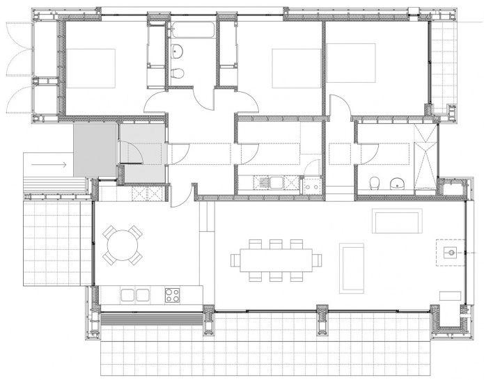 планировка одноэтажного загородного дома