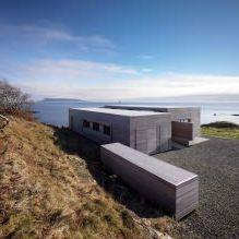 Одноэтажный загородный дом с плоской кровлей в Шотландии-1