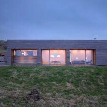 Одноэтажный загородный дом с плоской кровлей в Шотландии-7
