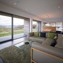 Одноэтажный загородный дом с плоской кровлей в Шотландии-8