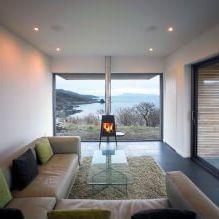 Одноэтажный загородный дом с плоской кровлей в Шотландии-9
