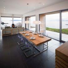 Одноэтажный загородный дом с плоской кровлей в Шотландии-10