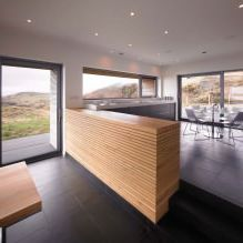 Одноэтажный загородный дом с плоской кровлей в Шотландии-11