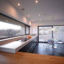 Одноэтажный загородный дом с плоской кровлей в Шотландии-12
