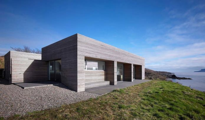 едноетажна къща с плосък покрив