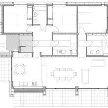 Одноэтажный загородный дом с плоской кровлей в Шотландии-16