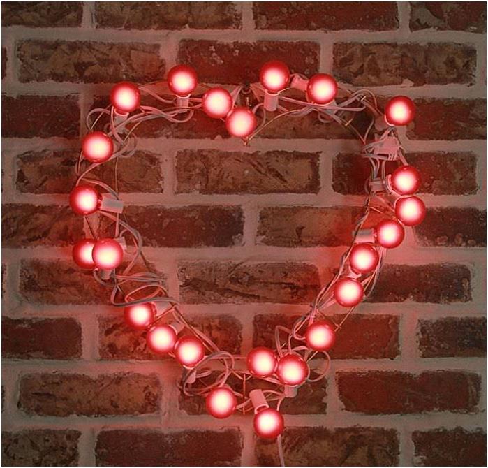 гирлянд под формата на сърце