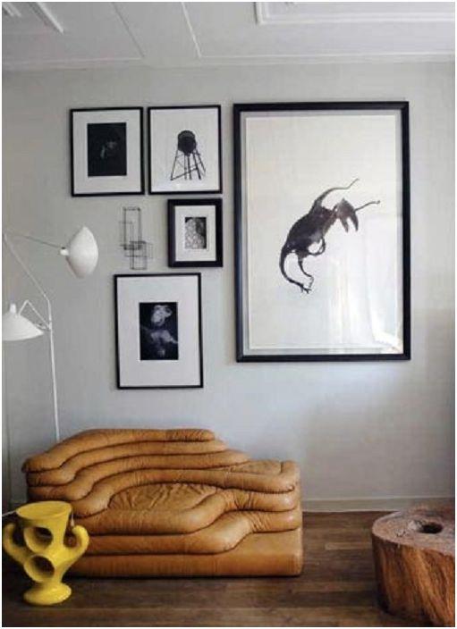 A nappali szürke árnyalatú díszítése kiváló lehetőség a szoba díszítésére.