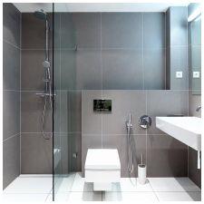 Сиви плочки в банята: функции, снимка-2
