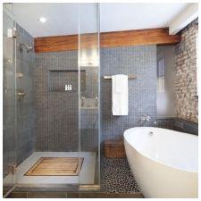 Сиви плочки в банята: функции, снимка-3
