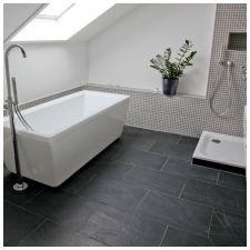 Сиви плочки в банята: функции, снимка-5
