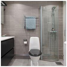 Сиви плочки в банята: функции, снимка-7