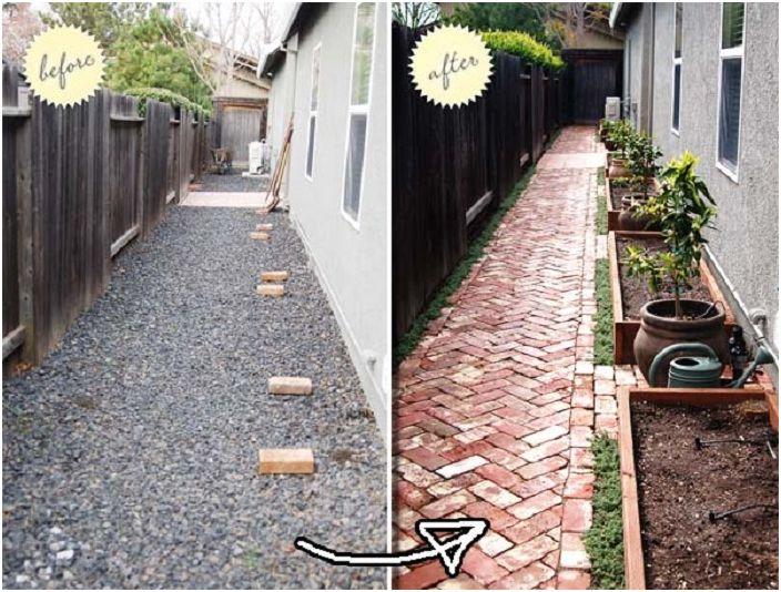 Можете просто и красиво да украсите и актуализирате пътеката с тухли в двора.