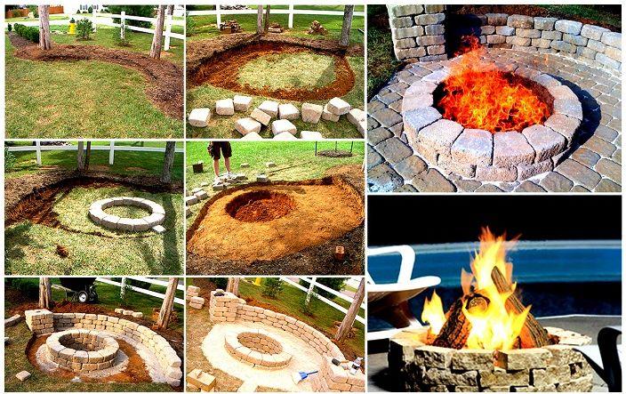 Красиво място за огън ще украси всеки двор около къщата.