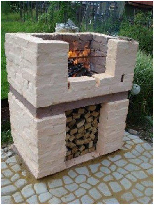 Добър вариант на дизайн за зона за готвене на открито.