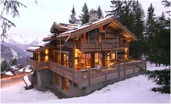 projekt w stylu górskiej chaty