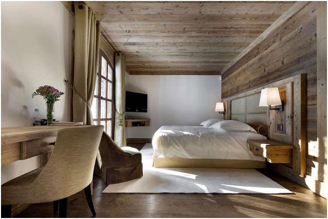 Zdjęcie wnętrza w stylu chaty