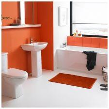 Особенности дизайна ванной в красно-белом цвете-9