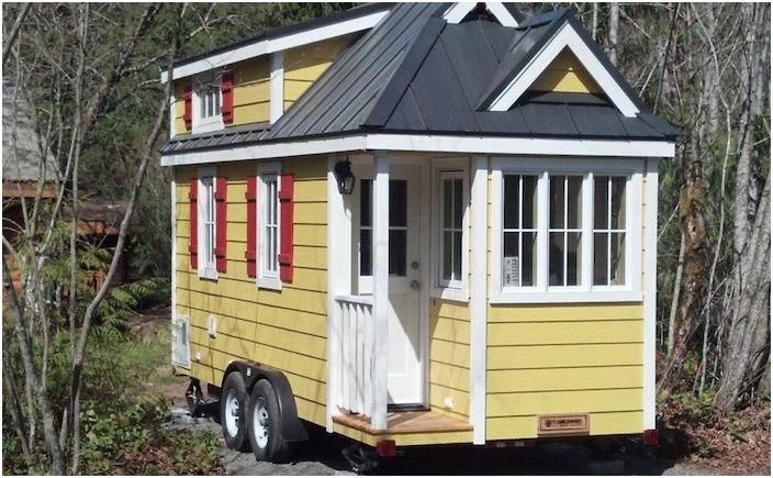 Мобилна къща, произведена от Tumbleweed Tiny House Company.