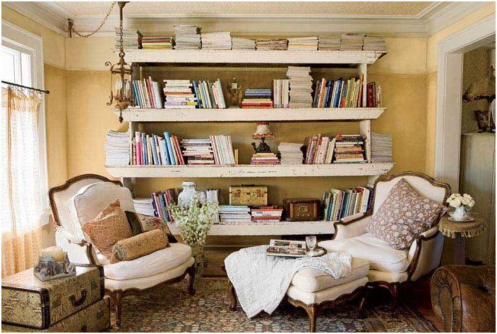Смесь старой и новой мебели в гостиной - отличный вариант при оформлении гостиной.