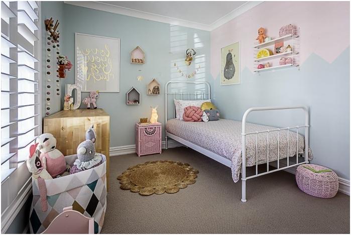 Skandynawski projekt przedszkola w pastelowych kolorach