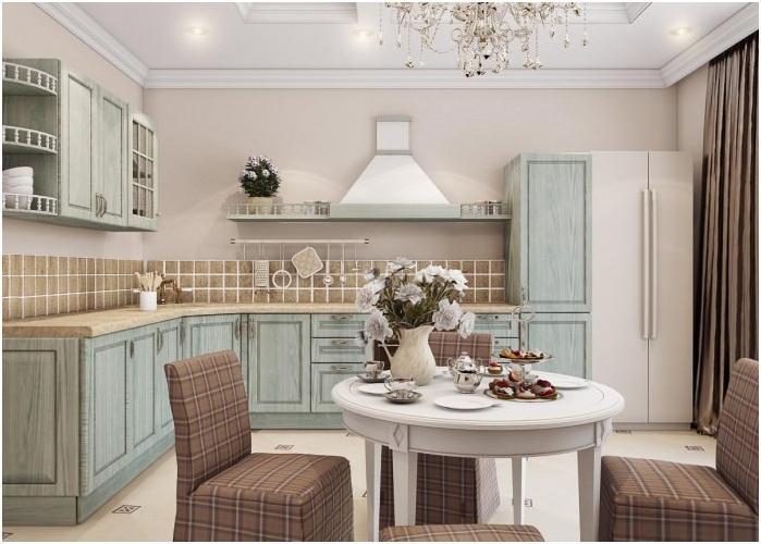 projekt kuchni w pastelowych kolorach