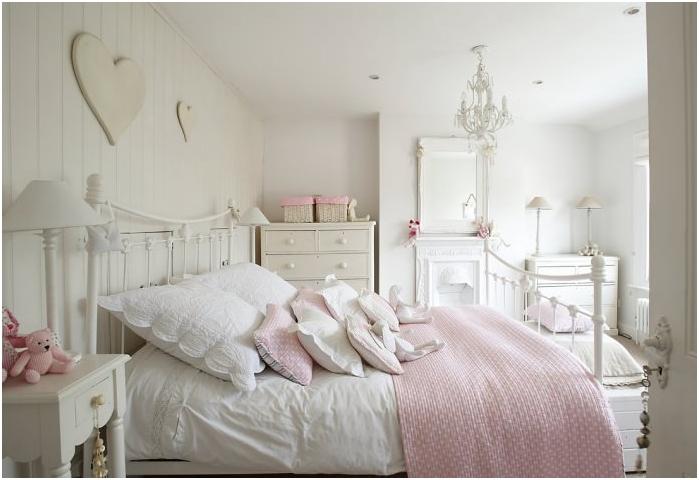 projekt sypialni w pastelowych kolorach