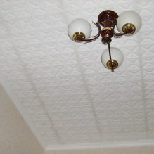 Пяна плочки за таван: плюсове и минуси, етапи на залепване-1