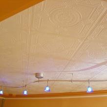Пяна плочки за таван: плюсове и минуси, етапи на залепване-2