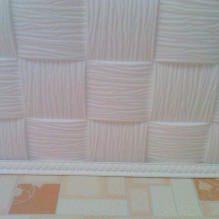 Пяна плочки за таван: плюсове и минуси, етапи на залепване-12