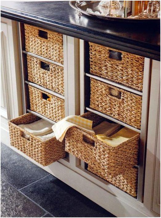 Пример за това къде да скриете плетени кошници