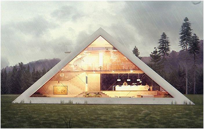 Pyramid House est le concept original d'une maison pyramidale.